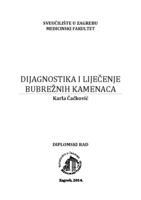 prikaz prve stranice dokumenta Dijagnostika i liječenje bubrežnih kamenaca