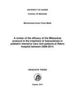 A REVIEW OF THE EFFICACY OF THE MILWAUKEE PROTOCOL IN THE TREATMENT OF KETOACIDOSIS IN PEDIATRIC INTENSIVE CARE UNIT PATIENTS AT REBRO HOSPITAL BETWEEN 2009-2014